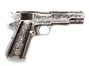 Пистолет газовый WE Colt 1911 Classic FLORAL блоубек, металл, грин-газ