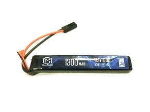 Аккумулятор 11.1В 1300мАч стик-тип LiPo BlueMax 20С мини-разъем / 134*21*18
