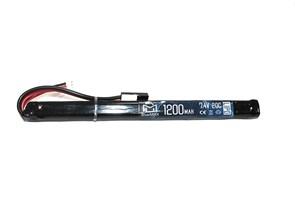 Аккумулятор 7.4В 1200мАч АК-тип LiPo 20С BlueMAX мини-разъем