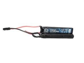 Аккумулятор 7.4В 2200мАч 2-разд.LiPo 20С BlueMAX мини-разъем /102*20*12