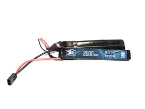 Аккумулятор 11.1В 2600мАч 3-разд LiPo 20С BlueMax мини-разъем /128*20*10