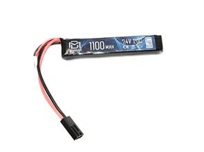 Аккумулятор 7.4В 1100мАч АК-тип LiPo 20С BlueMax мини-разъем /102*21*10