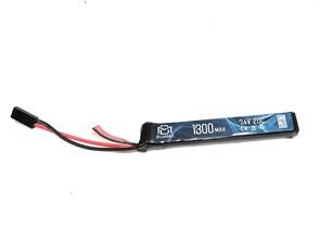 Аккумулятор 7.4В 1300мАч АК-тип LiPo BlueMAX 20С мини-разъем / 128*21*14