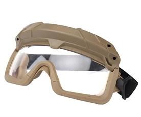 Очки тактические WST с креплением на шлем тан