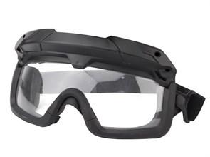 Очки тактические WST с креплением на шлем черный