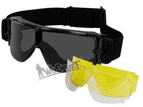 Очки тактические WST ATF репл. Bolle X800 3 линзы черный