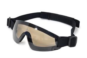 Очки тактические FMA Low Profile Eyewear черная оправа коричневые