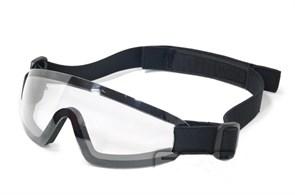Очки тактические FMA Low Profile Eyewear черная оправа прозрачные