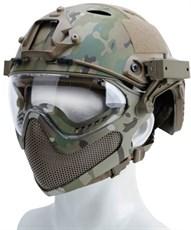 Шлем WST реплика FAST PJ очками и маской мультикам L