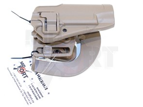 Кобура поясная CM пластик с быстр. доступом для Glock17 репл. Blackhawk CQC Тан