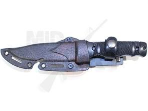 Штык-нож резиновый SOG M37 HY016 с ножнами черный