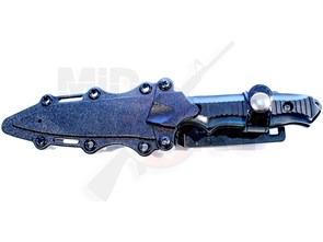 Штык-нож резиновый 141 Nimravus Tanto с ножнами черный /HY017